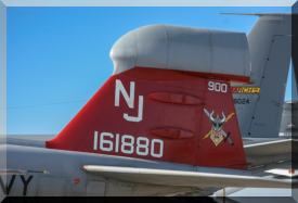 Tail of 161880 / NJ-900 - EA-6B Prowler of VAQ-129 based at Naval Air Station Whidbey Island