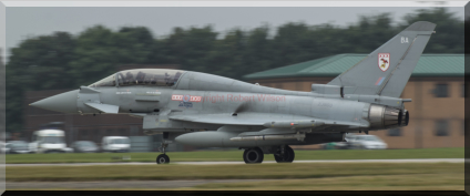 Typhoon 37 rolling down Waddingtons runway