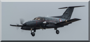 French Air Force Cotam 1791 arriving at RAF Waddington