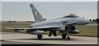 Typhoon 321 heading out on a pilots first solo.