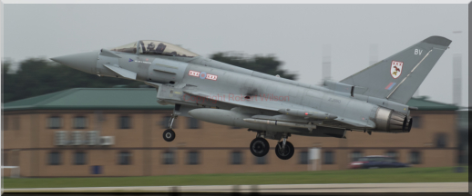 Triplex 11 about to land after returning to RAF Waddington